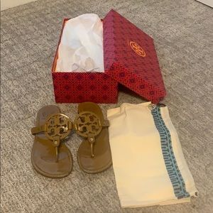 Tory Burch Miller sandals sand color 7.5